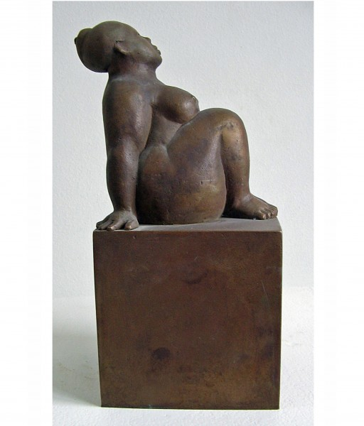 KLEINE SOCKELFIGUR - 2002 - BRONZE 26X12X12