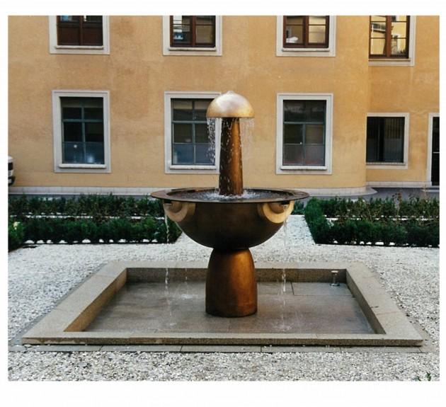 Brunnengestaltung im Innenhof der Landeszentralbank in München-2000-Bronze