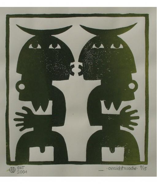 ANSICHTSSACHE - 2001 - LINOLDRUCK 50X50