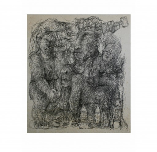BERUF BILDHAUER - 1990 - BLEISTIFT 80X70
