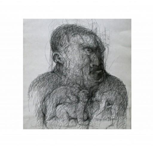 DARWINS FREUND - 1989 - BLEISTIFT 50X70