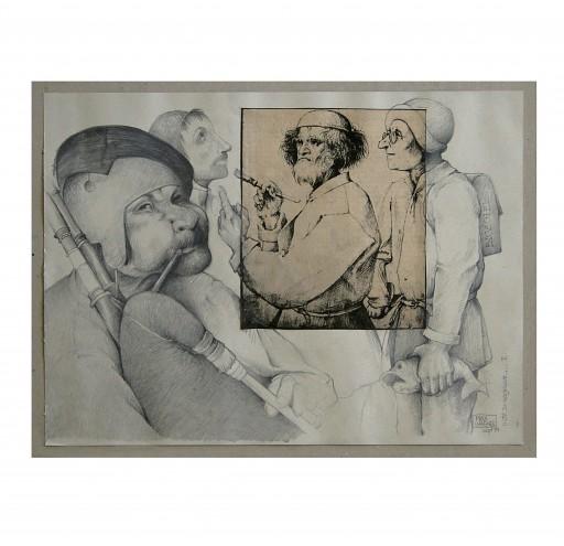 NICHT ZU VERGESSEN I P.BRUEGHEL - 1994 - BLEISTIFT, KOPIE 50X70