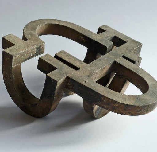 WRITING III -2012- BRONZE 10X23X20CM