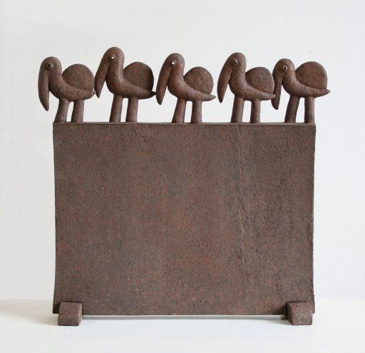 die Karawane -2017- Keramik gefärbt  39x37x11cm